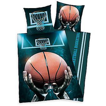 Kosárlabda egyszemélyes paplanhuzat és párnahuzat szett - Európai méret