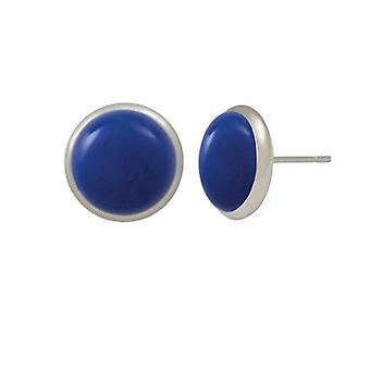 Éternelle Collection symphonie Lapis Blue Howlite argent percé des boucles d'oreilles