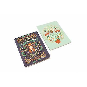 Seasons Greetings Fox Notebooks (Pack de 2)