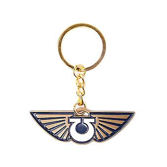 Warhammer 40K Keyring Keychain Space Marines Icon Logo new Official Metal