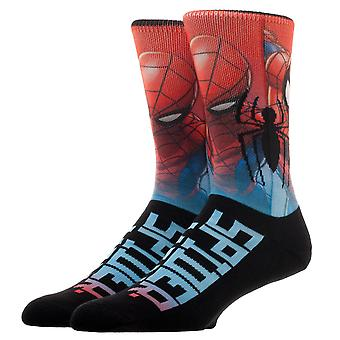 Crew Sock - Spiderman - Sublimated Over Knit New Licensed cq6j31usm