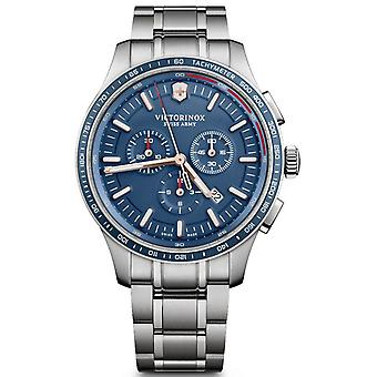 Victorinox alliance Quartz Analog Man Watch avec bracelet en acier inoxydable V241817