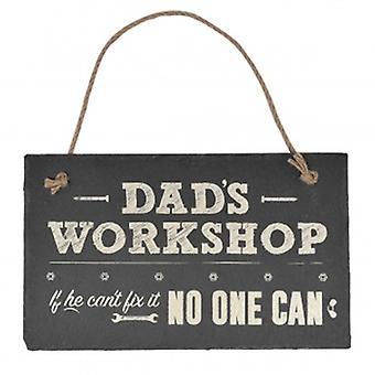 Xpressions Dads Workshop Slate Plaque