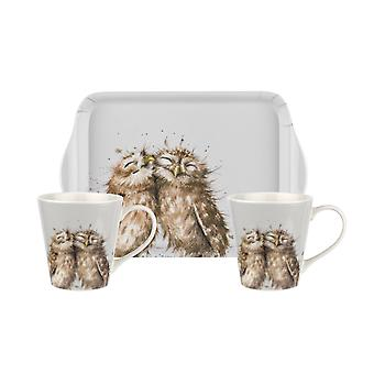 Wrendale Designs Mug and Tray Set Owl