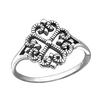 Flower - 925 Sterling Silver Plain Rings - W25130x