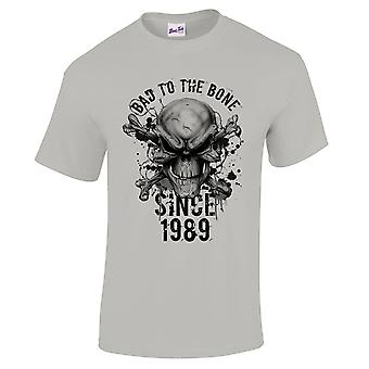 Men's 30th Birthday T-Shirt Bad To The Bone 1989 Prezenty dla niego