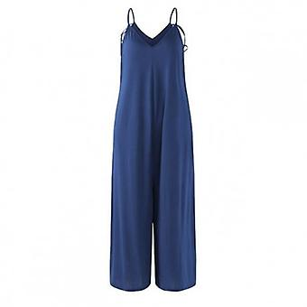 Sleeveles Party Jumpsuits Sexy Deep V Neck Wide Leg