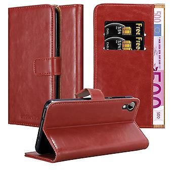 Cadorabo Sag for HTC Desire 10 Livsstil / Desire 825 sag sag dække - Telefon sag med magnetisk lås, stå funktion og kortrum - Sag Cover Beskyttende sag bog Foldestil