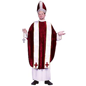 Cardinal Pope Deluxe Bishop Pontiff Religious Priest Adult Mens Costume One Size