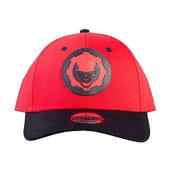 Gears Of War Baseball Cap Hydro Red Omen Logo new Official Red Snapback