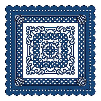 Tattered Lace Chatsworth kampa simpukka neliö D357 Stephanie Weightman