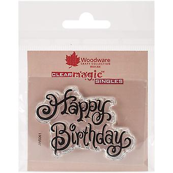Woodware Clear Stamps 2.5-inch x 1.75-inch Happy Birthday