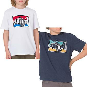 Animal Boys Retro Graphic Chest Print Short Sleeve Crew Neck Tee Top T-shirt