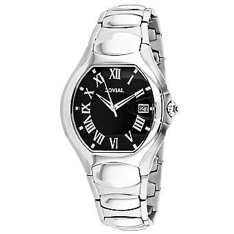 Jovial Men's Classic Black Dial Watch - 08031-MSM-04