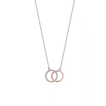 Lotus Silver LP1955-1/1 necklace and pendant - 2 silver women's moments circles