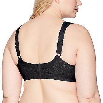 Playtex Women's Plus Size 18 Hour Original Comfort Strap Bra, Black, Size