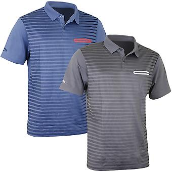 Callaway Golf Mens Ombre Pocket Opti-Dri Stretch Tech Polo Shirt