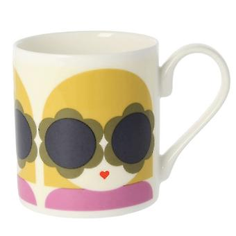 Orla Kiely Lola Yellow Purple Mug