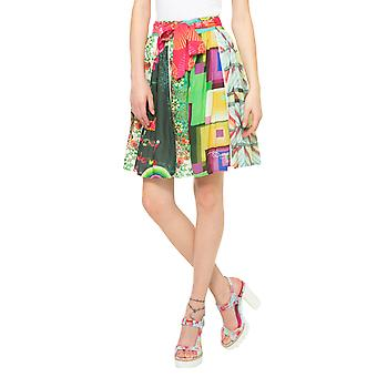 Desigual Women's Multi-Coloured Patterned Flared Yumi Skirt