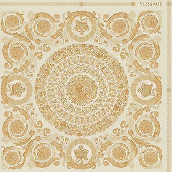 Versace dědictví dlaždice panel Tapeta - smetana a zlato - 37055-2 - 10m x 70cm