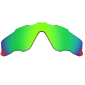 SeekOptics Replacement Lenses for Oakley JAWBREAKER Green Mirror UV400 Non-Polarized Polycarbonate