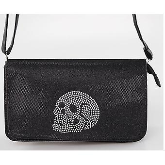 Iron Fist Medium svart skalle missbruk handväska