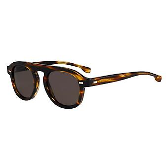 Hugo Boss 1000/S KVI/70 Striped Brown/Brown Sunglasses