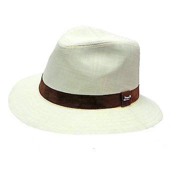 Mens Whiteleys Classic Quality 100% Linen Trilby Fedora Style Summer Sun Hat