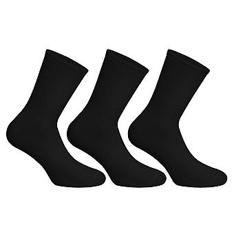Socks Uwear Mens Cotton Rich Smooth Plain Short Socks (Pack of 3)