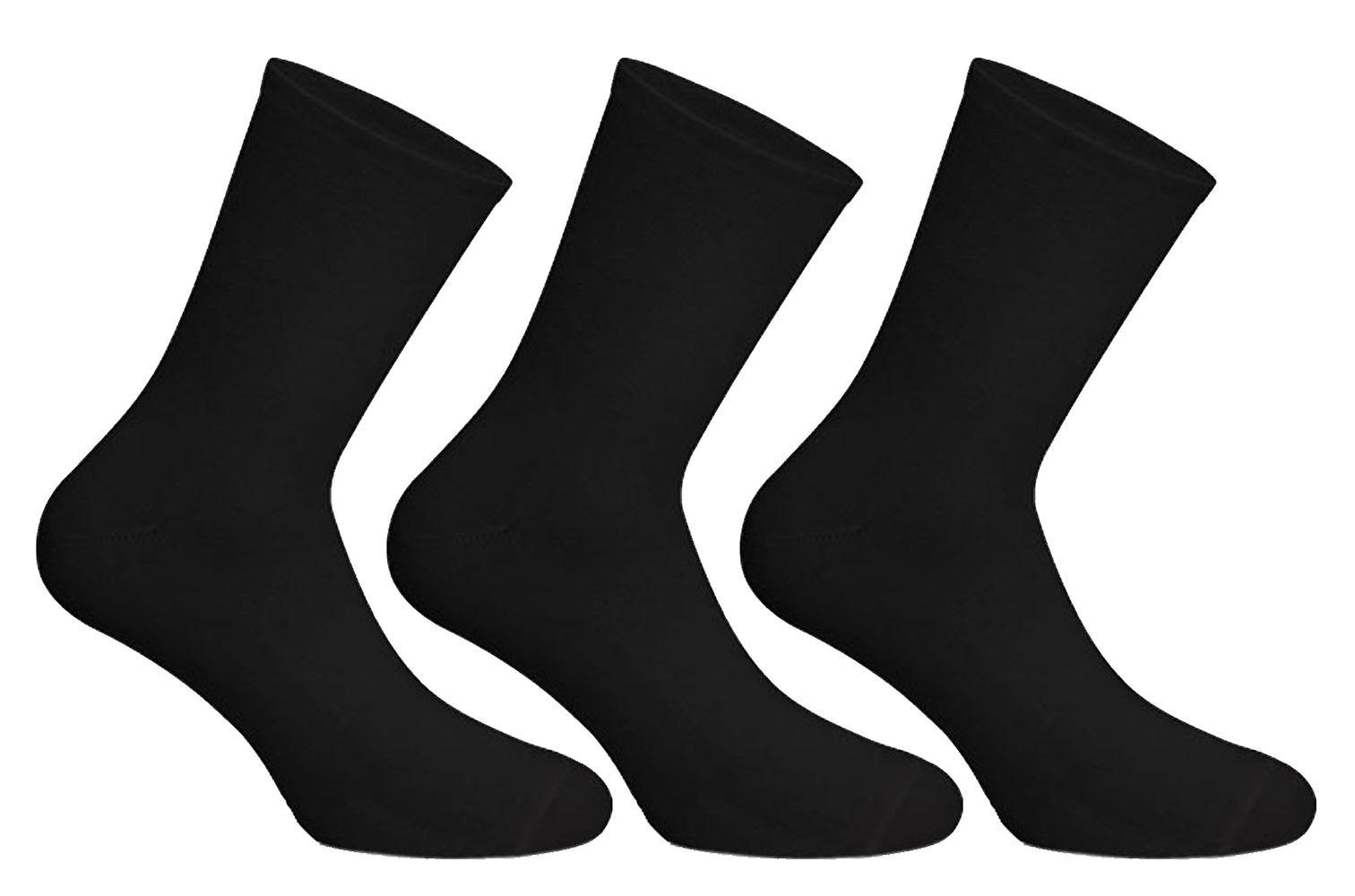 Chaussettes Uwear Mens Cotton Rich Smooth Plain Short Socks (Pack of 12)