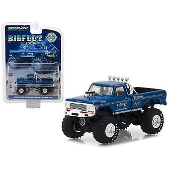 1974 Ford F-250 Monster Truck Bigfoot #1 Blue The Original Monster Truck (1979) Hobby Exclusive 1/64 Diecast Model Car par Greenlight