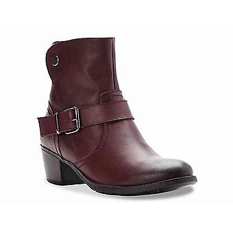Propét Womens Tory Leather Almond Toe Ankle Fashion Boots