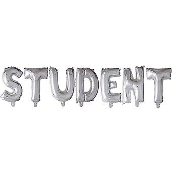 STUDENT Foil Balloon Argent