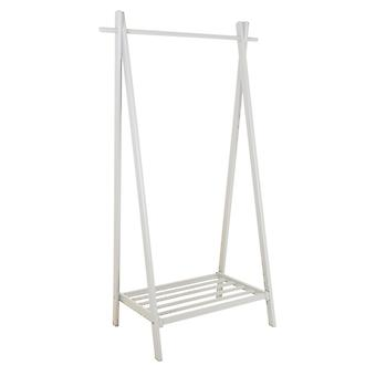 Charles Bentley Large Solid Wood Hanging Clothes Rail/Clothing Stand/Shoe Rack 150x50x89cm White