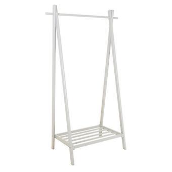 Charles Bentley Large Solid Wood Hanging Clothes Rail/Kledingstandaard/Schoenenrek 150x50x89cm Wit