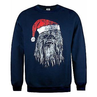 Star Wars Chewbacca Men&s Navy Christmas Jumper