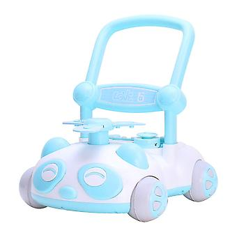 RideonToys4u Baby Sit to Stand Push Along Walker With Music and LED lights Blue