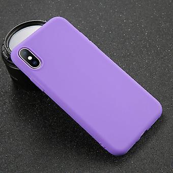 USLION iPhone 5S Ultraslim Silikonikotelo TPU-kotelon kansi violetti