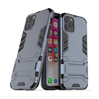 HATOLY iPhone 11 Pro - Robotic Armor Case Cover Cas TPU Case Navy + Kickstand