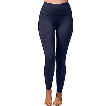 90 Degree By Reflex High Waist Fleece Lined Leggings with Side Pocket - Yoga ...