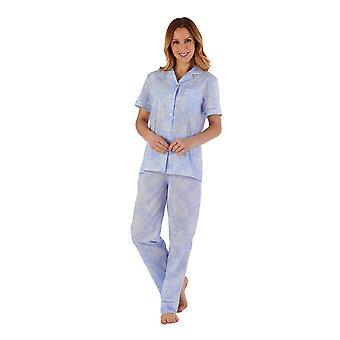 Slenderella PJ55214 Women's Floral Cotton Pyjama Set