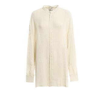 L'autre Koos Bk520620002u021 Women's White Viscose Shirt