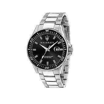Maserati - Wristwatch - Men - SFIDA 44MM 3H BLACK DIAL BR SS - R8853140002