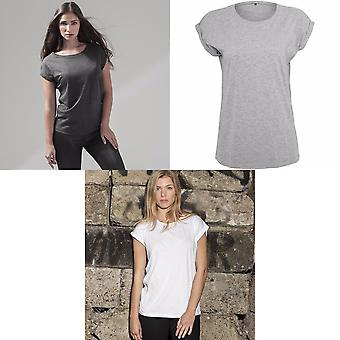 Build Your Brand Womens/Ladies Extended Shoulder T-Shirt
