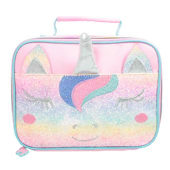 Rainbow Unicorn 3D Horn Design isolé Lunch Bag Rose