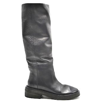 Marsell Ezbc446005 Women's Black Leather Boots