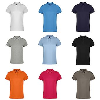 Asquith & Fox Womens/Ladies Plain Short Sleeve Polo Shirt