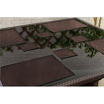 Gardenista Outdoor Dining Water Resistant Placemats Tableware, Pack of 1 Brown