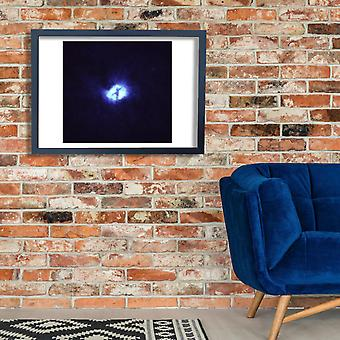 Hubble Telescope - M51 whirlpool galaxy black hole Poster Print Giclee