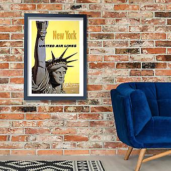 United Airlines New York 2 Poster Print Giclee